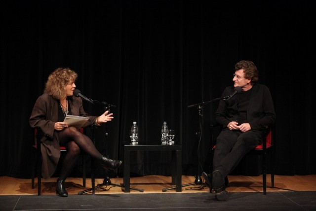 Dean Carol Becker and Alfredo Jaar in conversation.