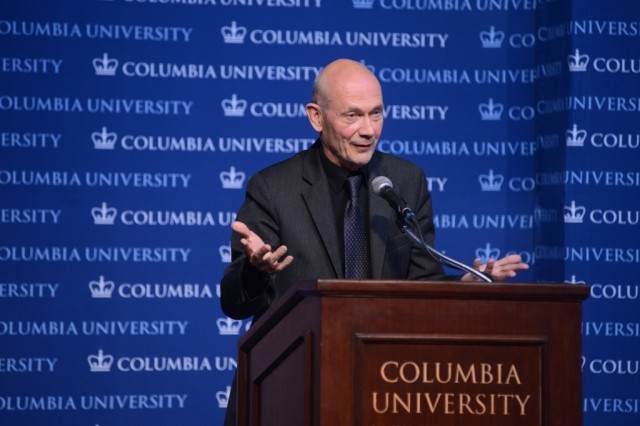Pascal Lamy delivers the Second Annual Global Thought Lecture - Global Governance and Future Challenges: Lessons from the Oxford Martin Commission, to Columbia students, faculty and staff.