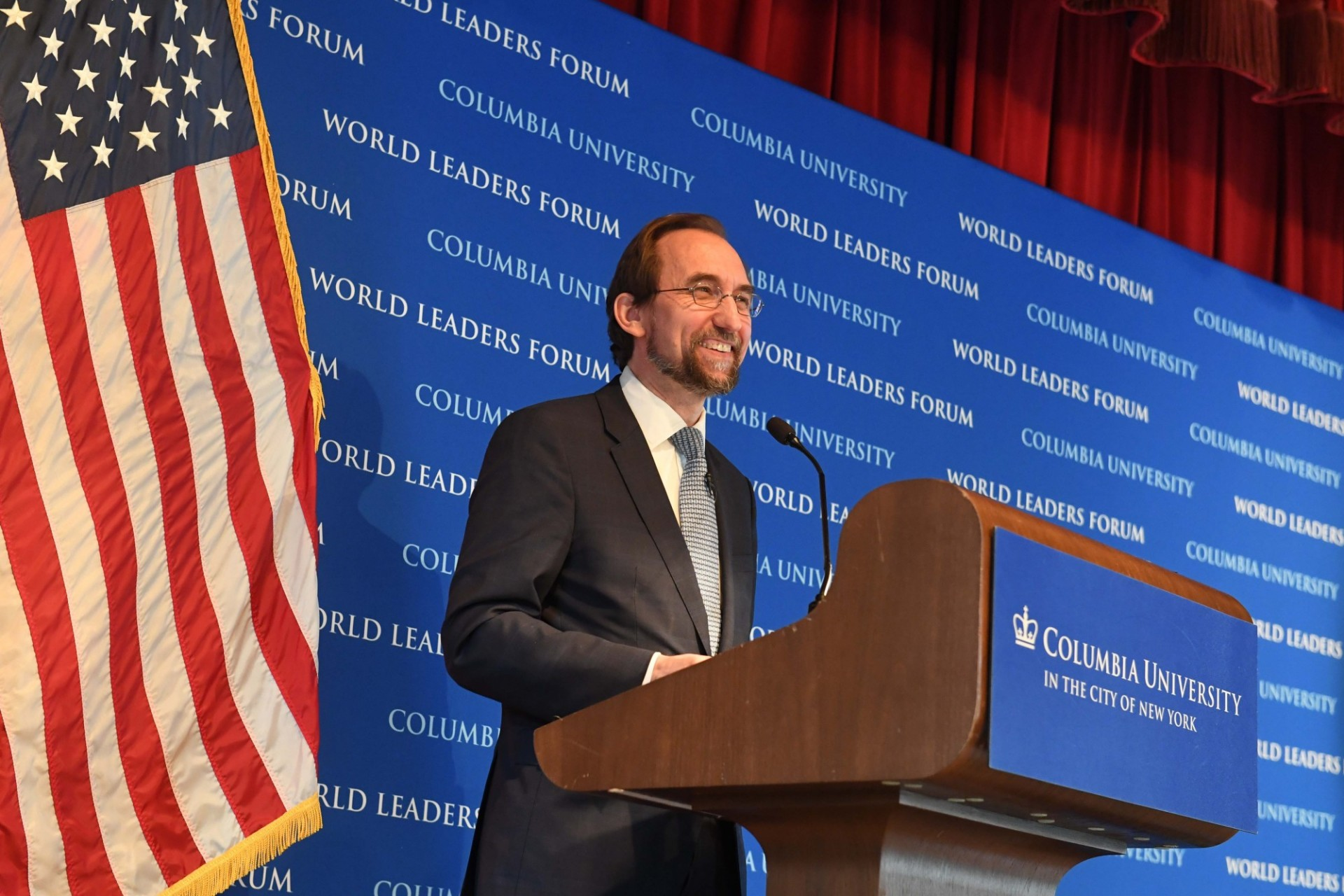 "Mr. Zeid Ra'ad Al Hussein, United Nations High Commissioner for Human Rights, delivers his address, ""The State of Human Rights in the World Today,"" to Columbia University students, faculty and staff."