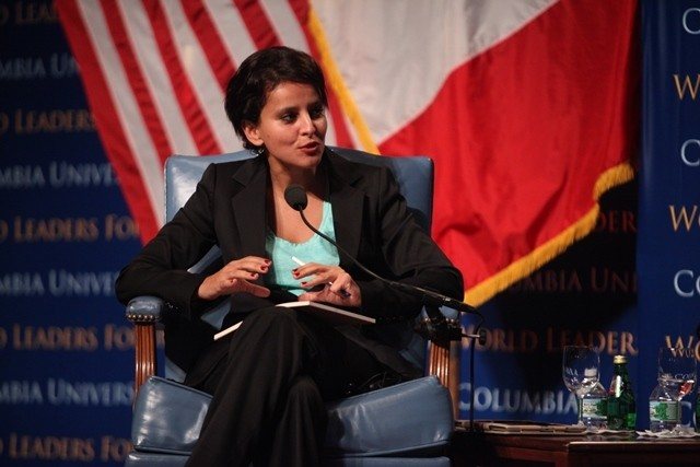 Najat Vallaud-Belkacem, Minister for Women's Rights and Government Spokesperson of France makes her opening remarks.