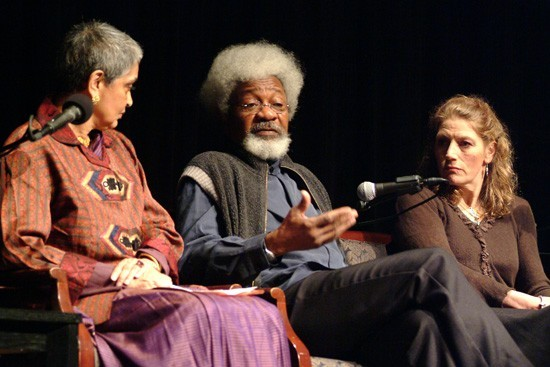 Panelists Gayatri Spivak, Wole Soyinka and Geraldine James share their experiences as mentors in the Arts.
